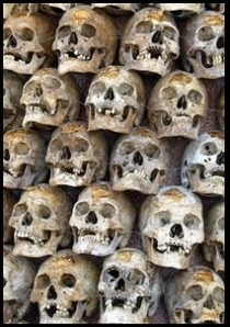 Just one of Timur's many pyramids of trophy skulls