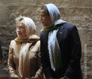 Hitlery-and-obama-in-Hijabs